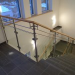 Railing with glass and Oak